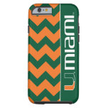 El U Miami - verde y naranja Funda De iPhone 6 Tough