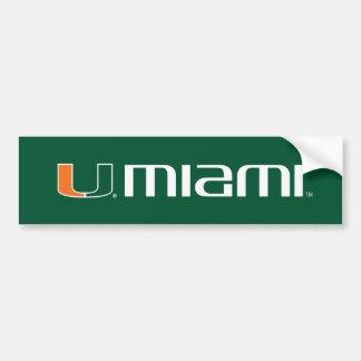 El U Miami - verde y naranja Pegatina Para Auto
