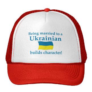 El ucraniano construye el carácter gorro