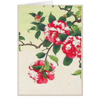 El ukiyo-e de Camelia Nishimura Hodo florece arte Tarjeta Pequeña