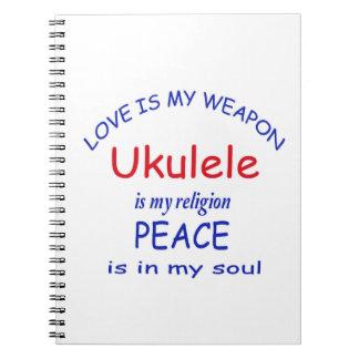 El Ukulele es mi religión Libreta Espiral