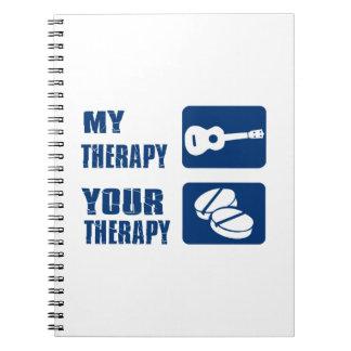 el ukulele es mi terapia cuadernos