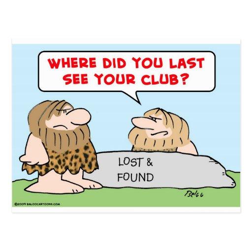 el último considera a los hombres de las cavernas postal
