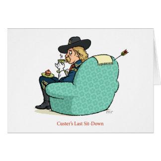 El último de Custer Sienta-Abajo la tarjeta