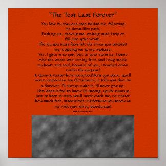 """""""El último de la prueba para siempre"""", usted ama…  Póster"""