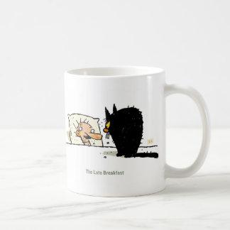 El último desayuno taza de café