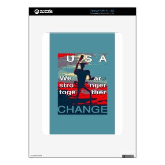 El último lema de la campaña de Hillary Clinton Calcomanías Para El iPad