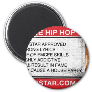 El último videojuego del hip-hop imán redondo 5 cm
