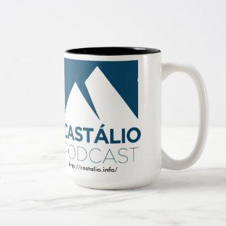 ¡El Uma caneca de café hace Castálio! Taza De Dos Tonos