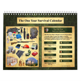 El un calendario de la supervivencia del año