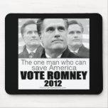 El un hombre que puede ahorrar América - Romney 20 Alfombrillas De Ratón