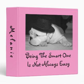 """""""El un""""… perrito inglés elegante del dogo (Pink) Carpeta 1 1/2"""""""
