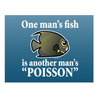 El un pescado del hombre, Poisson de otro hombre Tarjetas Postales