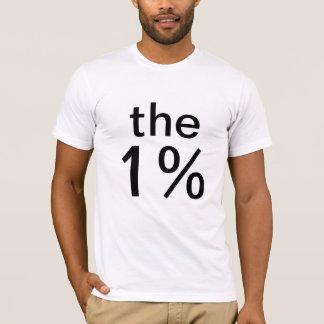 el un por ciento (el 1%) - anti-ocupe Wall Street Playera