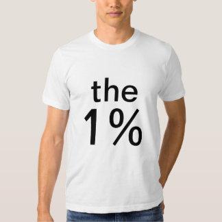 el un por ciento (el 1%) - anti-ocupe Wall Street Polera