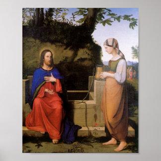 El und de Christus muere Samariterin Póster