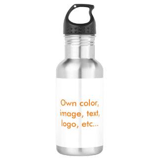 El ~ uni blanco de la botella de agua posee color