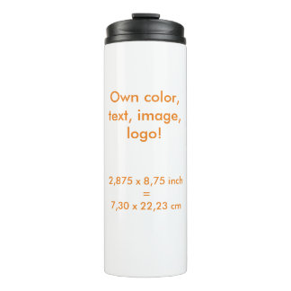 El ~ uni blanco termal del vaso posee color