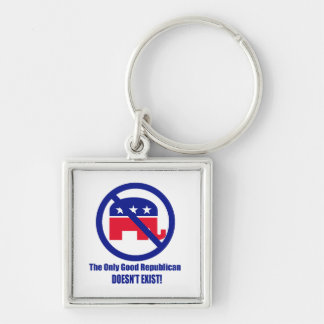 El único buen republicano llavero cuadrado plateado