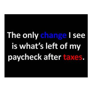 El único cambio que veo… postales