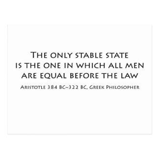"""""""El único estado estable es el en el cual… Tarjeta Postal"""