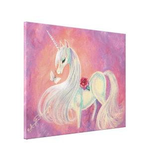 El unicornio adentro se ruboriza de amanecer lona estirada galerias
