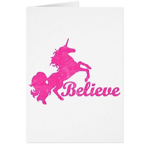 El unicornio, cree felicitacion