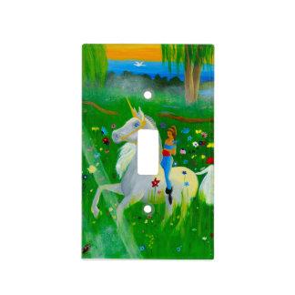 El unicornio de Kaya Tapa Para Interruptor