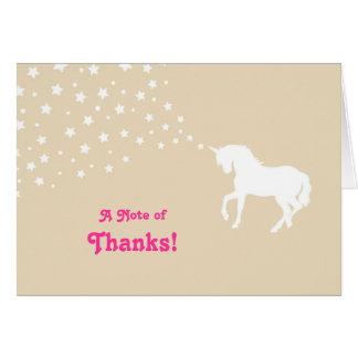 El unicornio elegante le agradece cardar tarjeton