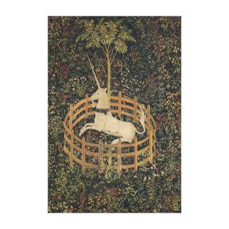 El unicornio en cautiverio impresiones de lienzo