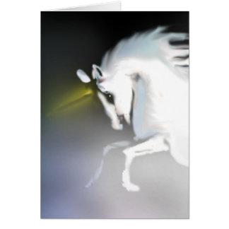 El unicornio en la niebla tarjeta de felicitación