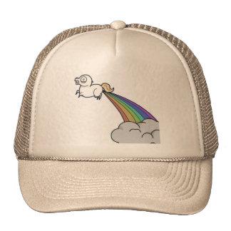 El unicornio Fart gorra de los arco iris