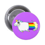 El unicornio Farts botón Pin