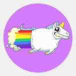 El unicornio Farts el pegatina (invertido)