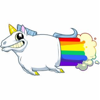 El unicornio Farts imán Imán Fotoescultura