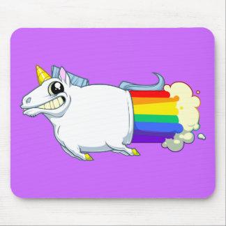 El unicornio Farts Mousepad Tapetes De Ratones