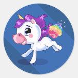 El unicornio Farts Pegatina Redonda