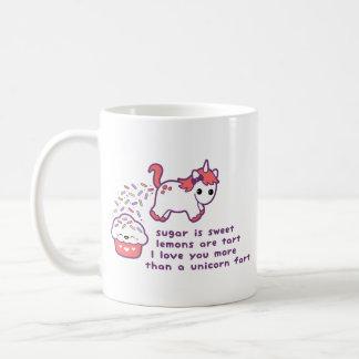 El unicornio lindo Fart Taza De Café