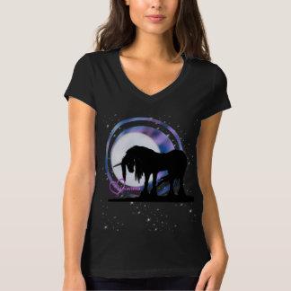 El unicornio negro místico (púrpura/falta de playera