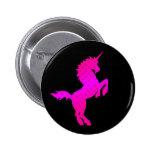 El unicornio retro del vintage de los años 80 del  pin