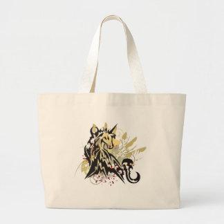 El unicornio salpica bolsa tela grande