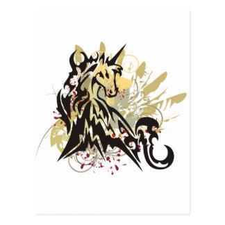 El unicornio salpica tarjeta postal