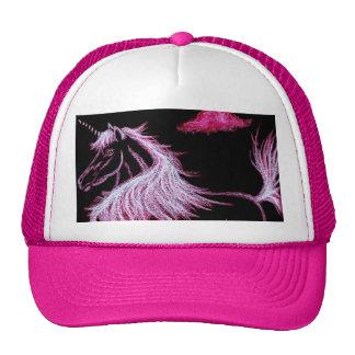 el unicornio soña rosa gorras de camionero