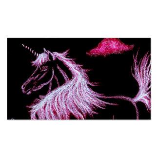 el unicornio soña rosa tarjetas de visita