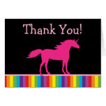 El unicornio y el arco iris le agradecen las tarje tarjeton