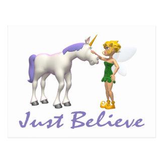El unicornio y la hada apenas creen postal