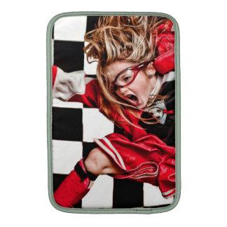 El uniforme del rojo del atleta del chica del niño fundas para macbook air