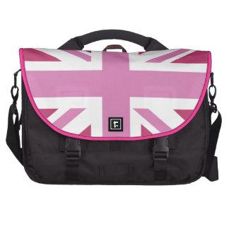 el Union Jack rosado, pica la bandera de unión Bolsa De Ordenador