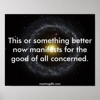El universo ahora manifiesta posters