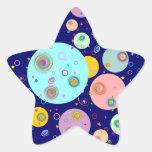 El universo B2 Pegatinas Forma De Estrellaes